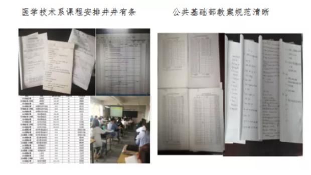 学院教务处组织各系部开展新学期工作检查